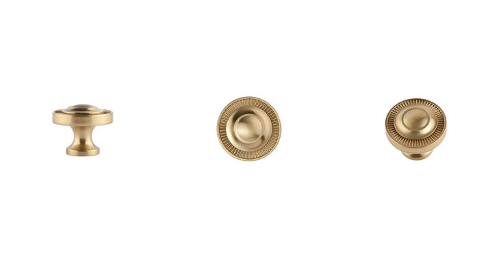Minted Collection Large Knob in satin brass