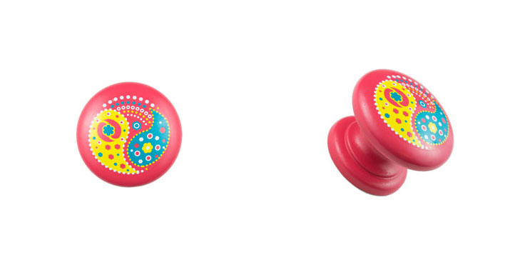 Pink-Knob-with-Yellow-Paisley