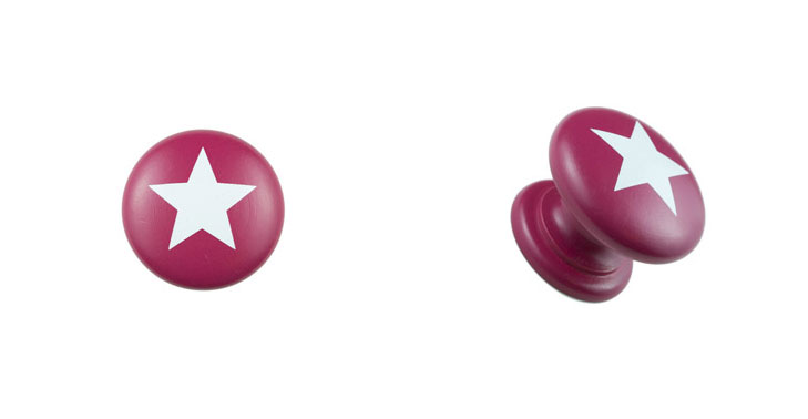 Red-Knob-with-White-Star