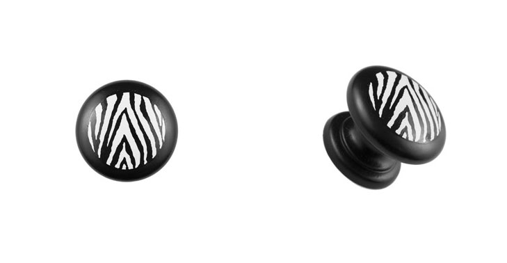 Zebra-Print-Knob